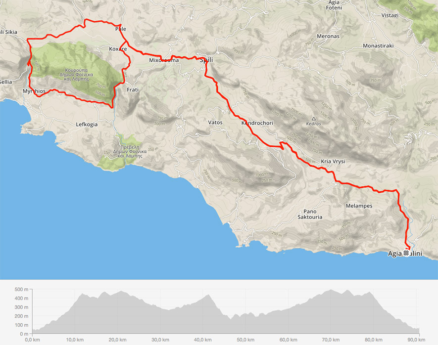 Tour Canyon crete cycling