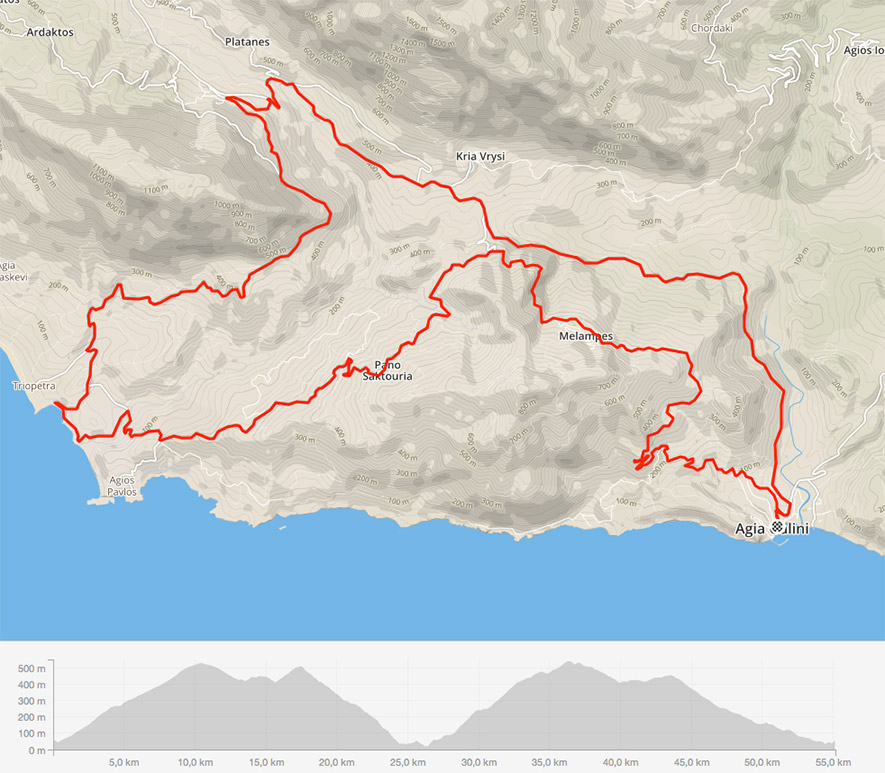 Tour Triopetra crete cycling