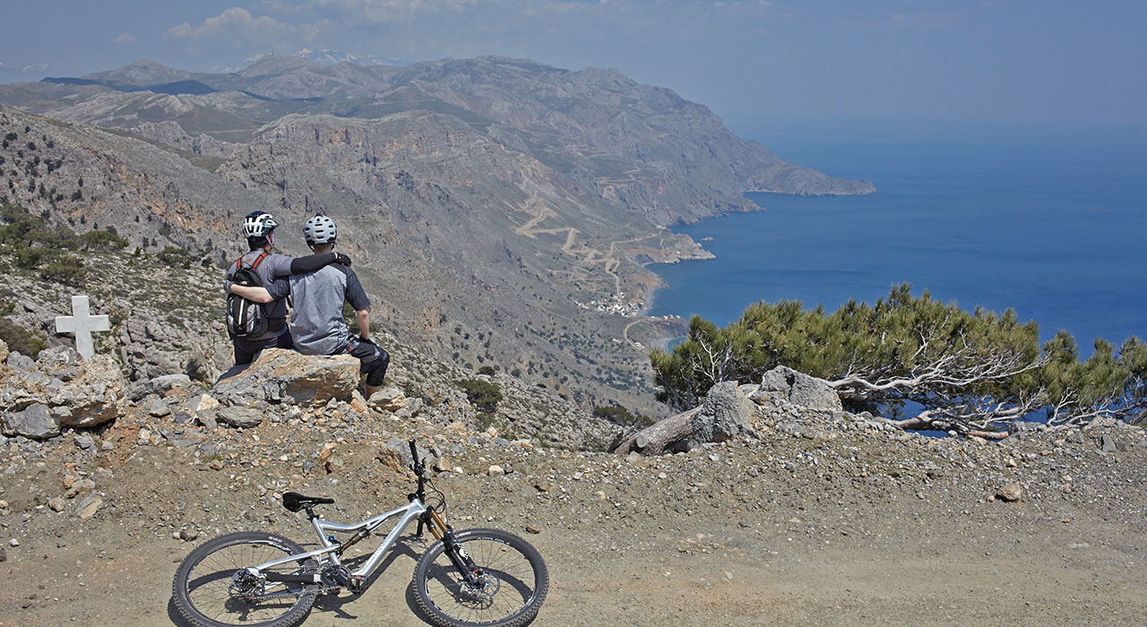 crete cycling mountainbike tour, cretan sports cycling, mtb tour